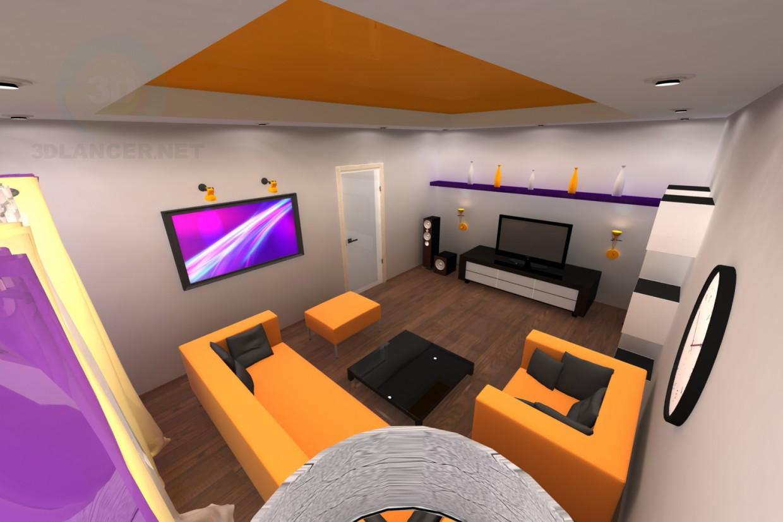 3d model Living room - preview