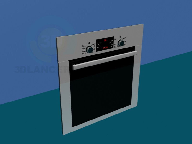 3d modeling Oven Panel model free download