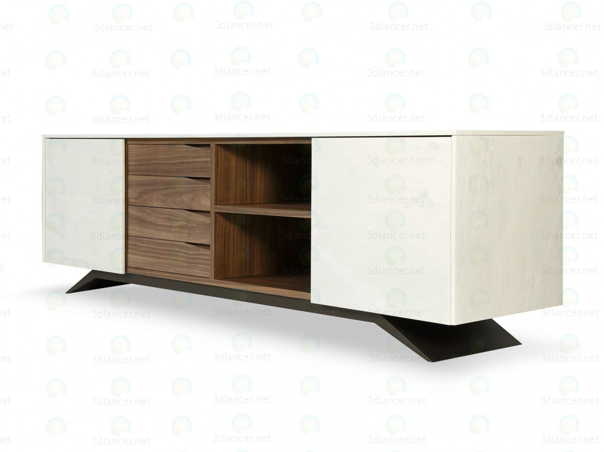 3d Nightstand model buy - render