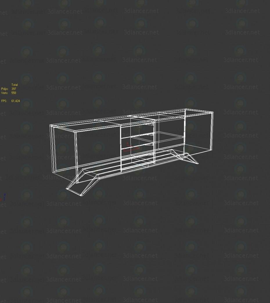 3d Тумба модель купить - ракурс