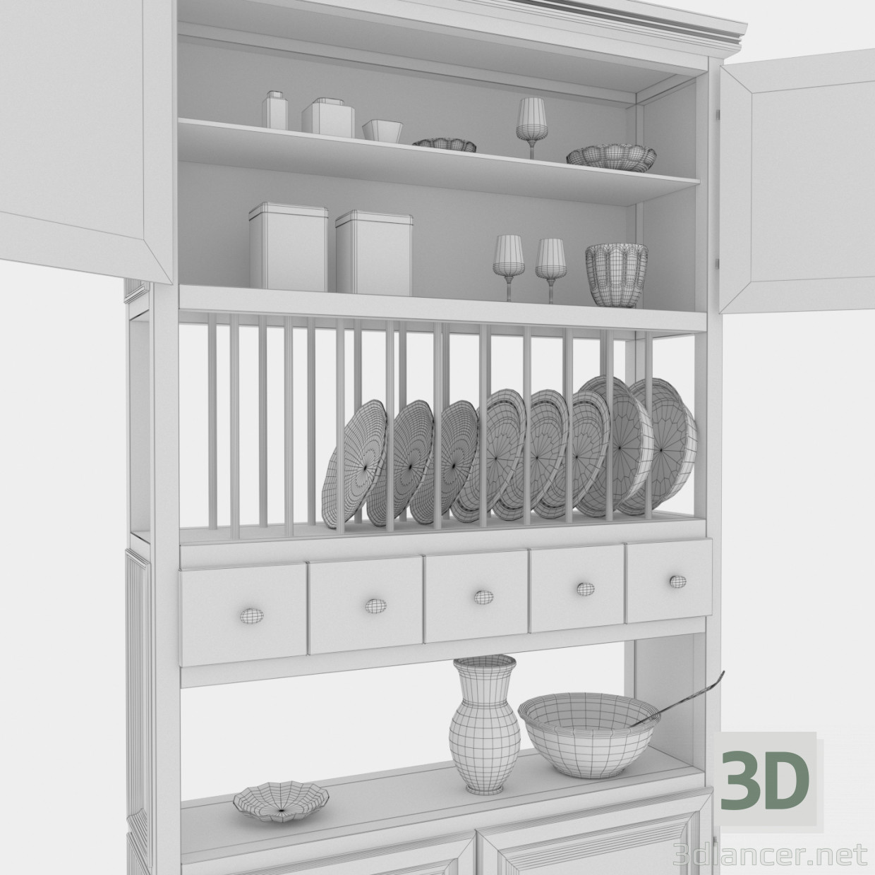 3d model Kitchen sideboard - preview