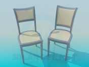The chairs in the set