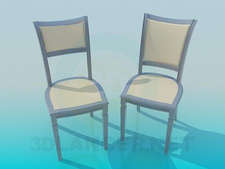 Modelo 3d As cadeiras no conjunto - preview