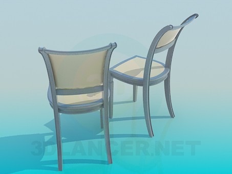 3d model The chairs in the set - preview