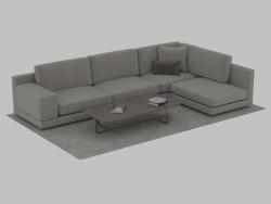 Canapé modulable angulaire Agora