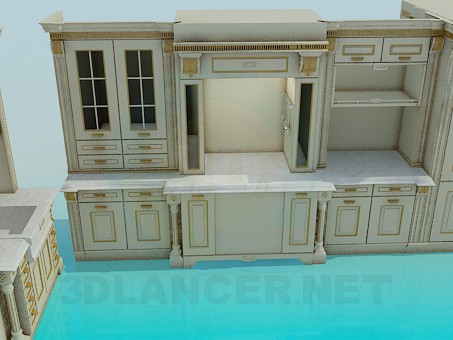 3d model kitchen set in the style of roman id 4425 for Model model kitchen set