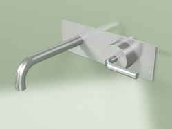 Wall-mounted hydro-progressive mixer with spout (14 13R, AS)