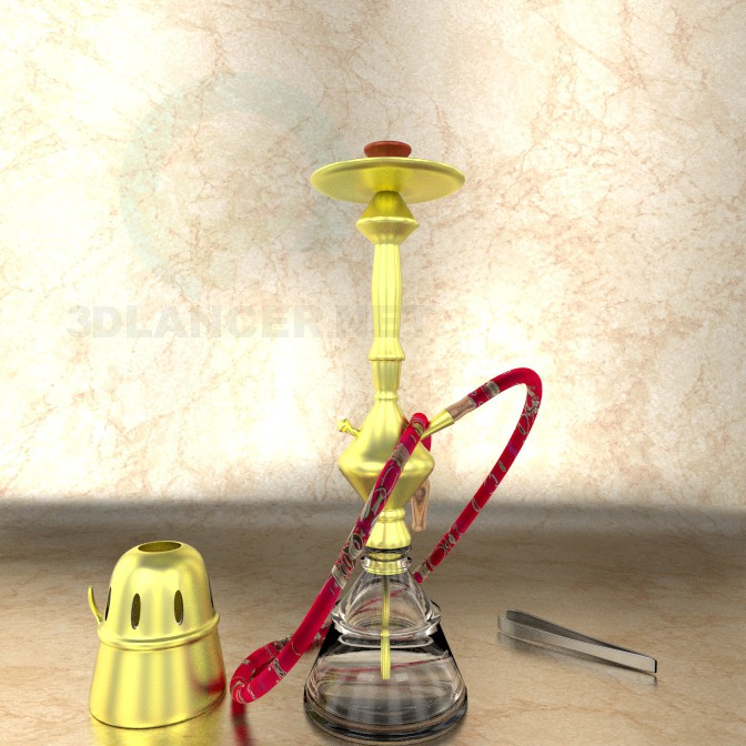 3d modeling hookah model free download
