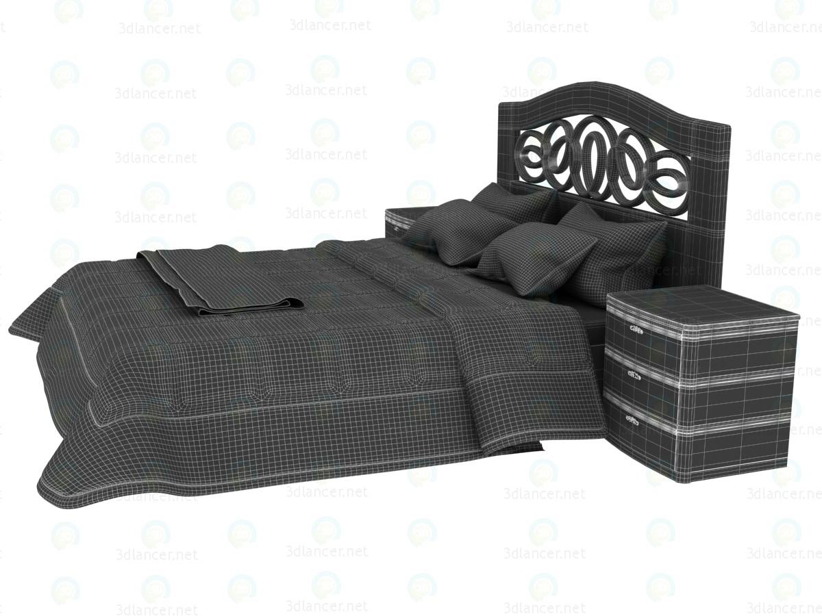 3d Двуспальная кровать с изголовьем Mobax 5198844 модель купить - ракурс