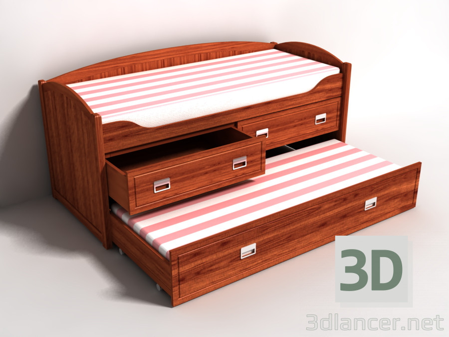 3d model Bed bunk - preview