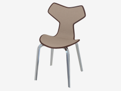 Chair with leather lining and massive legs Grand Prix