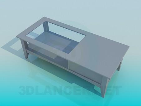 modelo 3D Mesa de centro con cajón - escuchar