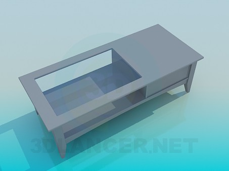 3d model Coffee table with drawer - preview