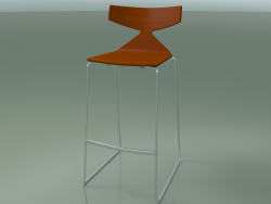 Tabouret de bar empilable 3704 (Orange, CRO)