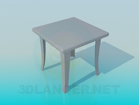 3d modeling Bench with curved legs model free download