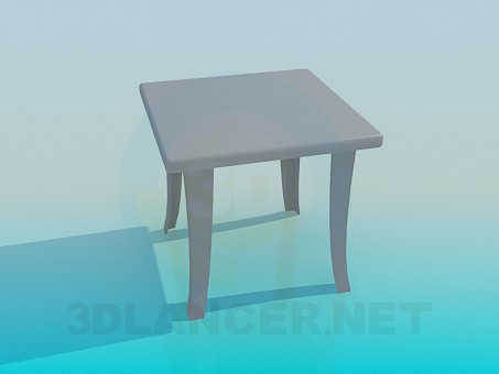 3d model Bench with curved legs - preview