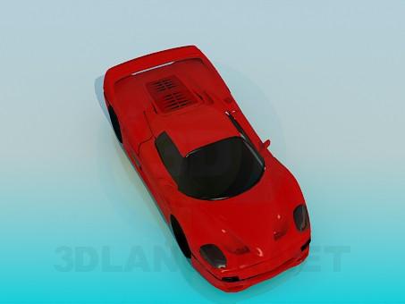 3d model Sports car - preview