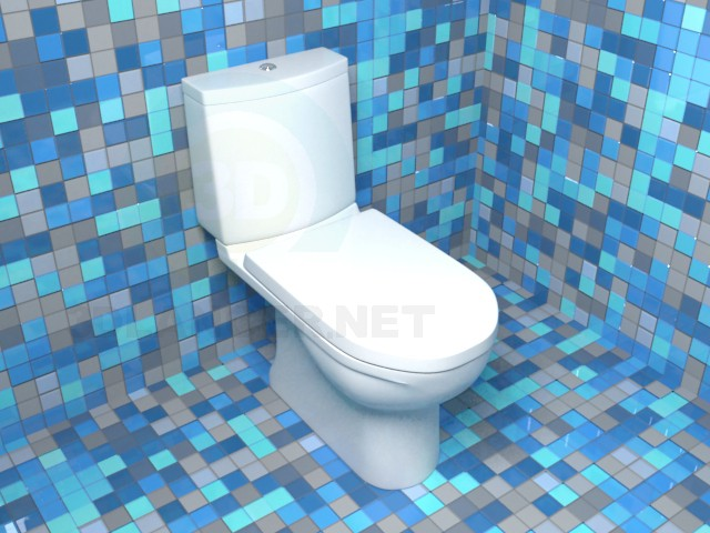 3d model toilet Sanita Luxe model NEXT - preview