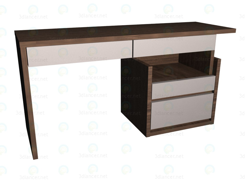 3d model Writing desk with pedestal 150 (2nd version location) VOX - preview