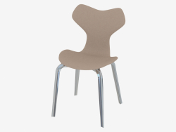 Chair with leather upholstery and massive legs Grand Prix