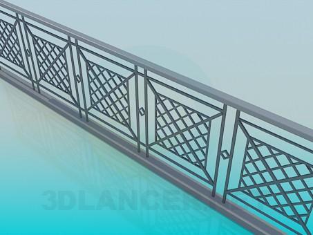 3d model Railing - preview