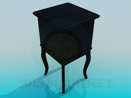 3d модель Тумба с ящиками – превью