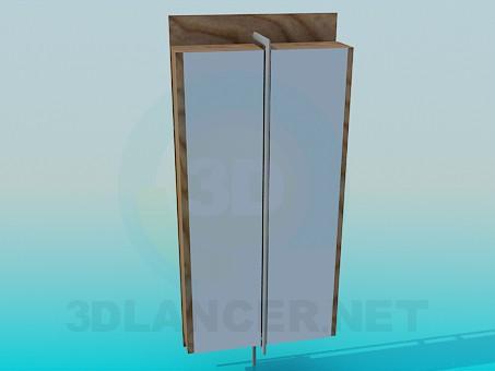 3d модель Шкаф-стеллаж – превью