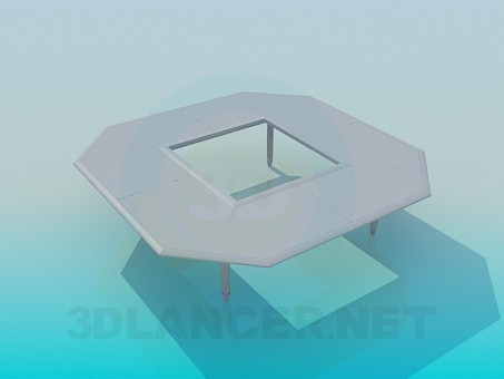 3d model Table with a hole - preview