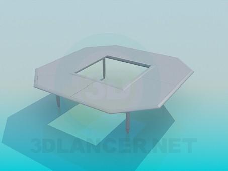 modelo 3D Mesa con un agujero - escuchar