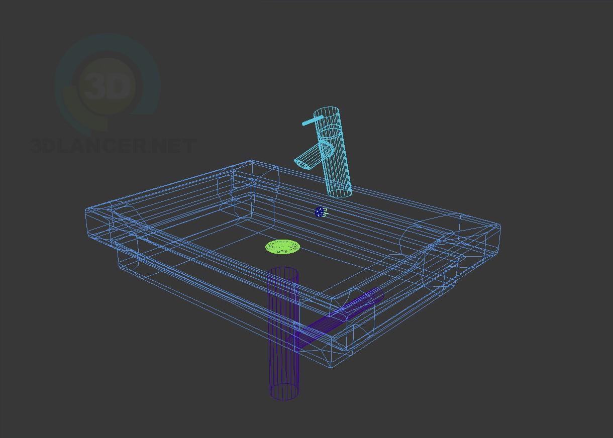 3d модель Раковина Duravit 2-й этаж – превью
