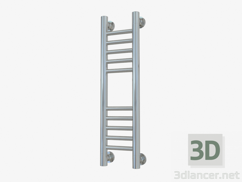 3d model Bohemia heated towel rail + straight (600x150) - preview