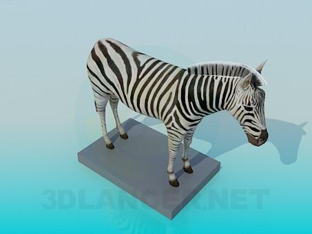 3d modeling Zebra model free download
