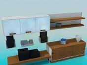 रहने वाले कमरे के लिए फर्नीचर का सेट