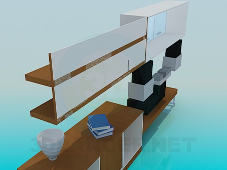 3d model Set of furniture for living rooms - preview