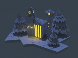 Lowpoly fairy-tale house