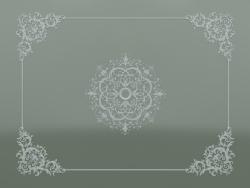 Composition de plafond en plâtre stuc ND-002