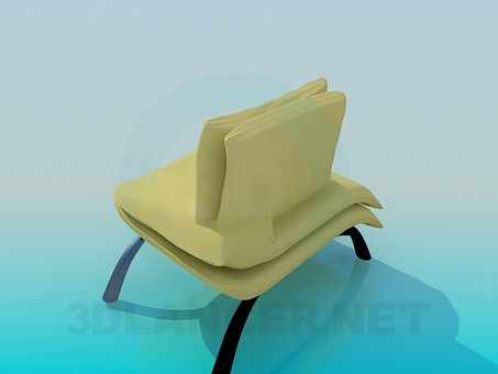 3d модель Кресло-тапчан – превью