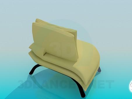 3d модель Крісло-тапчан – превью