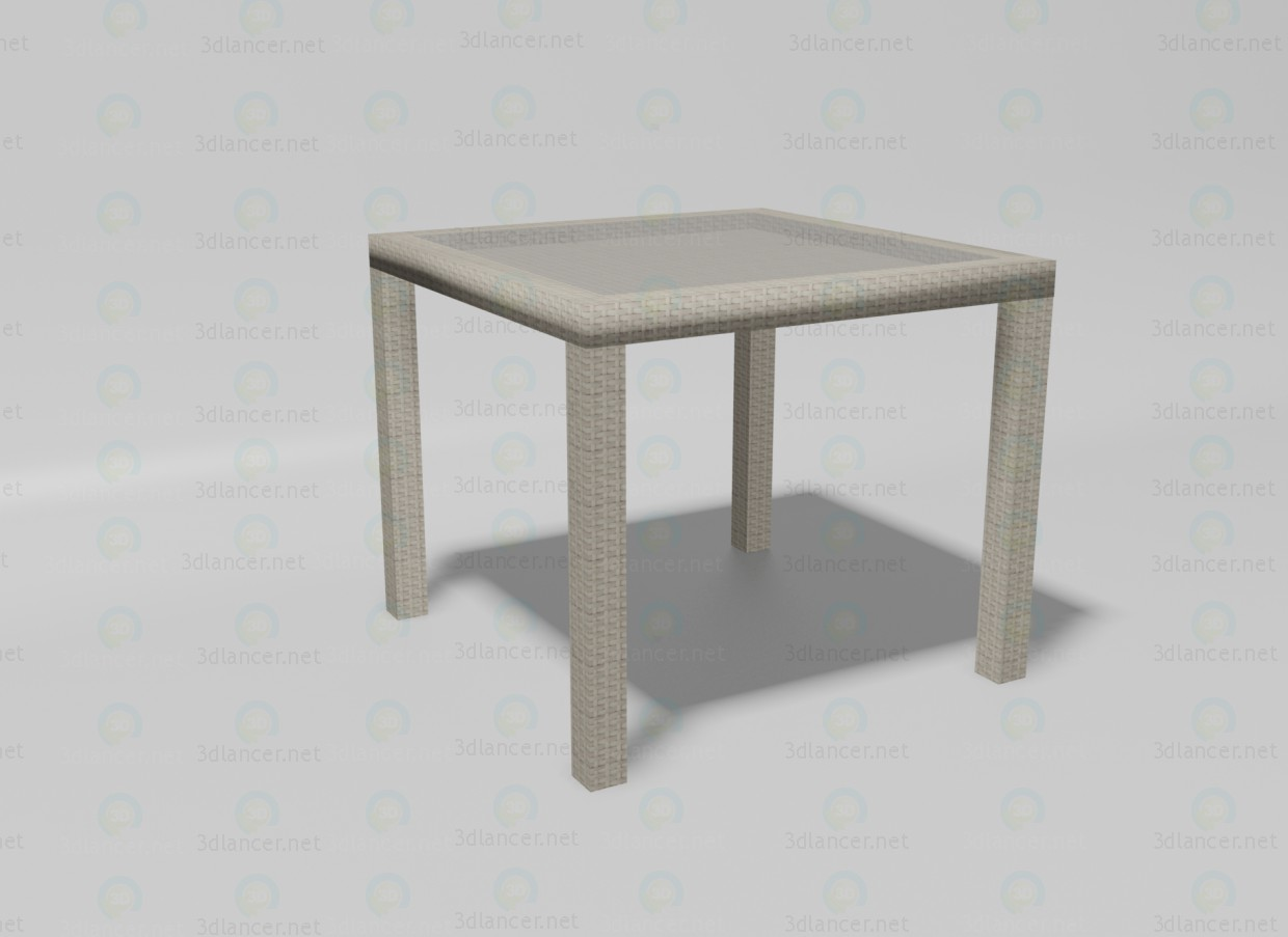 3d modeling Summer table model free download
