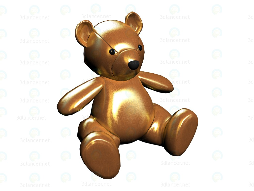 3d model Toy Teddy Gold - preview
