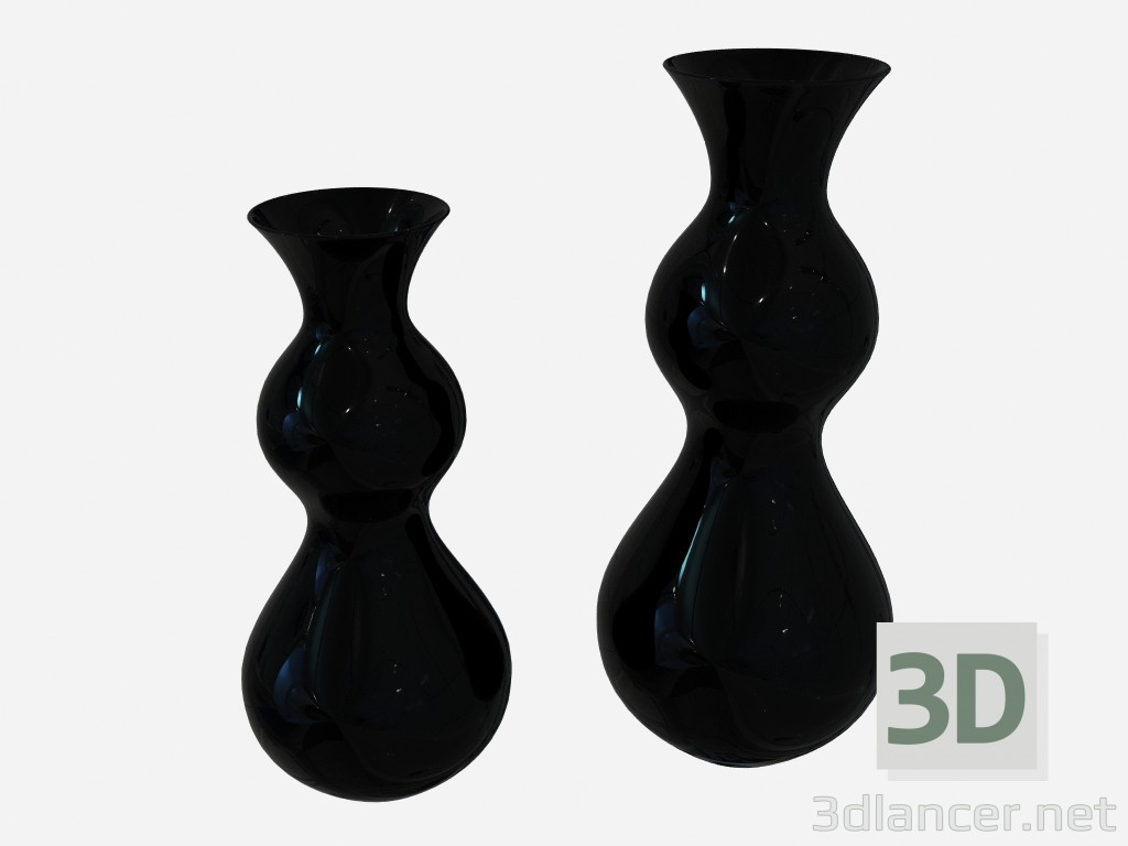 3d modeling Vase in the art deco style in a dark performance Vase B (2-piece) model free download