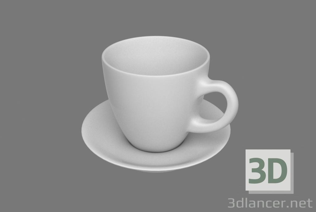 3d model A cup, max(2016), obj, fbx, - Free Download