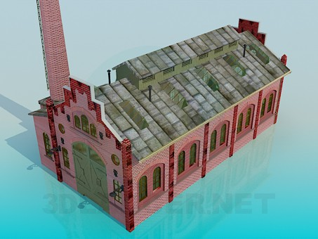 3d modeling Factory model free download