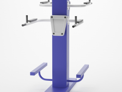 Street tandem bench press exercise machine