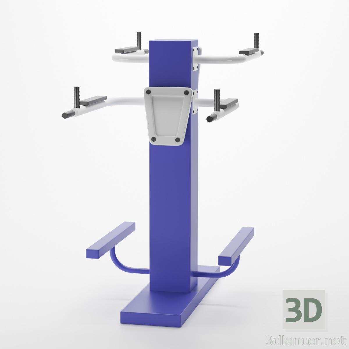 3d Street tandem bench press exercise machine model buy - render