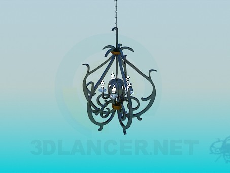 3d modeling Forged lamp model free download