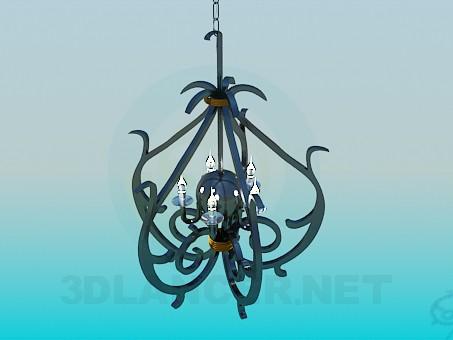 3d модель Кованный светильник – превью