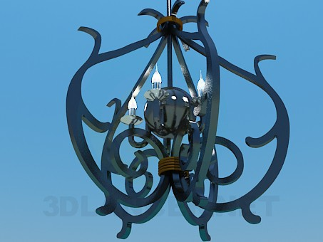 3d model Forged lamp - preview