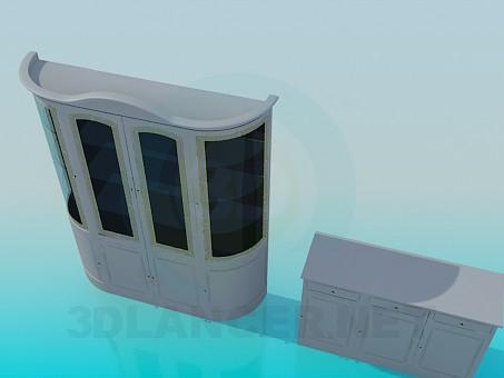 3d модель Тумба і сервант в комплекті – превью