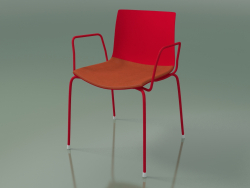 Chair 0450 (4 legs with armrests and a pillow on the seat, polypropylene PO00104, V48)